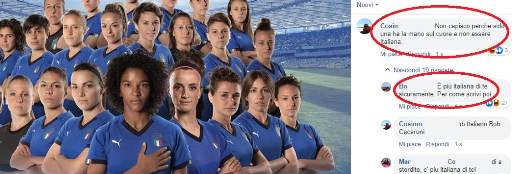 sara gama mondiali calcio femminili razzismo commenti