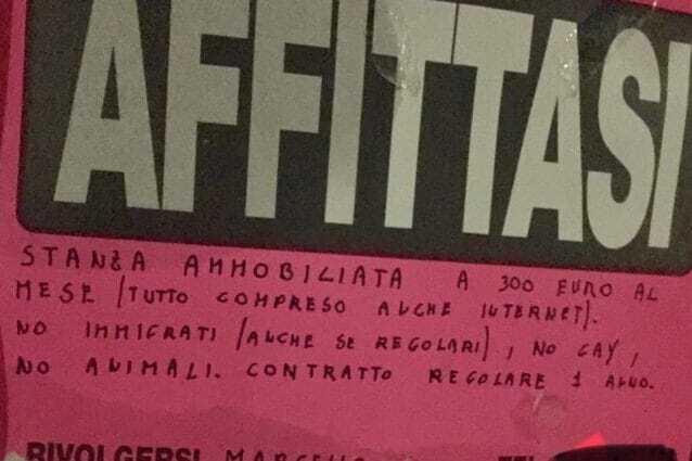 cartello roma razzismo